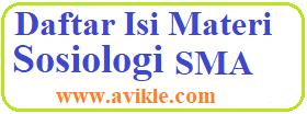 Daftar Isi Materi Sosiologi SMA