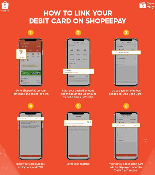 How to link debit card to ShopeePay
