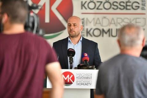 MKP: a koalíció elutasítása rossz hír a felvidéki magyar közösségnek