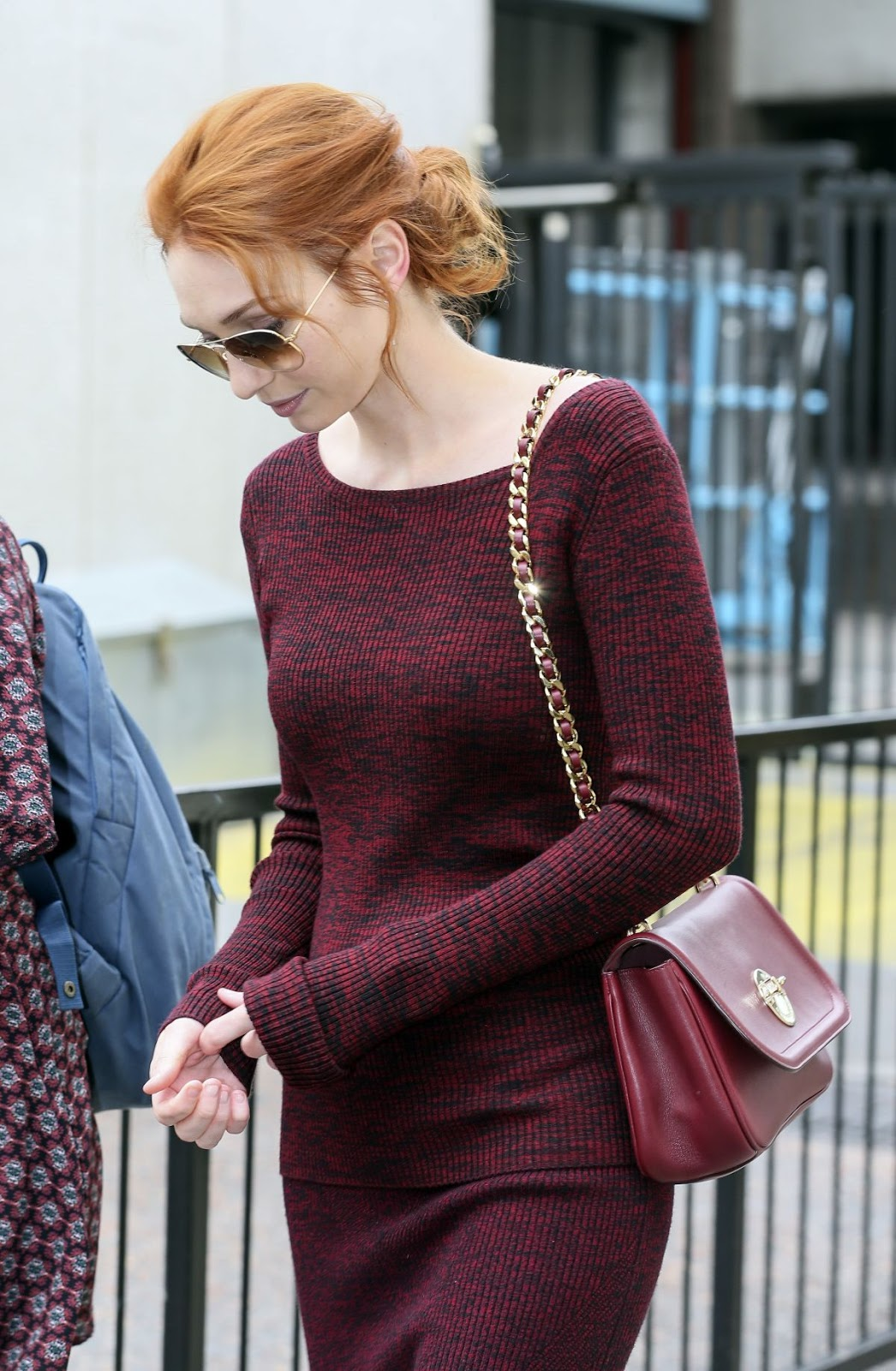 HQ Photos of Eleanor Tomlinson Leaving This Morning Studio In London