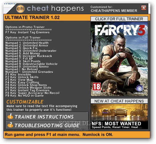 Far Cry 3 1.05 Trainer Download