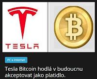 Tesla Bitcoin hodlá v budoucnu akceptovat jako platidlo. AzaNoviny.eu