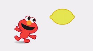 Cartoon animated Elmo, Elmo sings about the L sound in lemon, Sesame Street Episode 4318 Build a Better Basket season 43