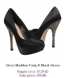 Steve Madden Party R Black Shoes