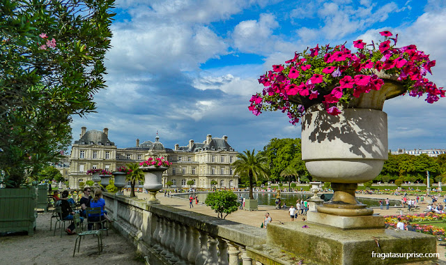 Jardins de Luxemburgo: antigo Palácio de Maria de Médici, hoje sede do Senado Francês