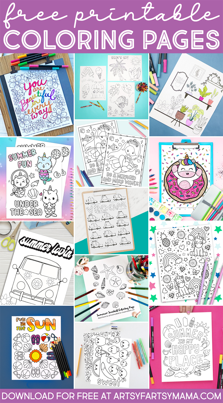 13 Free Printable Coloring Pages