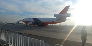 Avión estadounidense llega a Chile para colaborar en combate de incendios