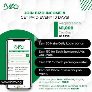 Bizo income program review