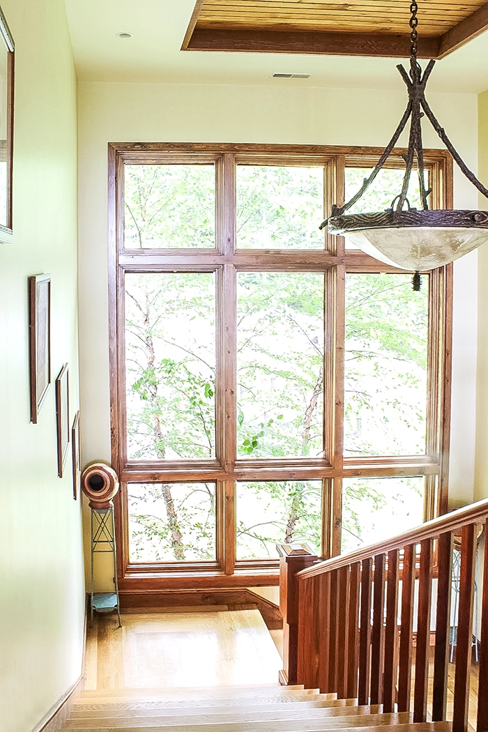 majestic window along the staircase