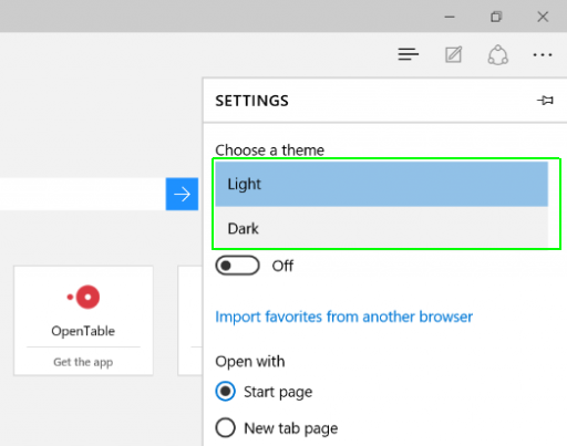 How to Change Theme of Microsoft Edge Browser
