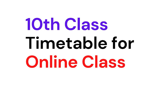Odisha board decided to give his students education online on the YouTube live class from the 21st of June. here is the timetable of the 10th Class Live Online Class youtube.