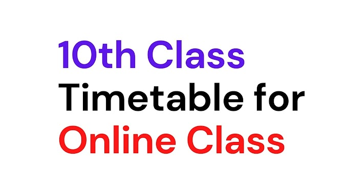 10th Class Live Online Class time table