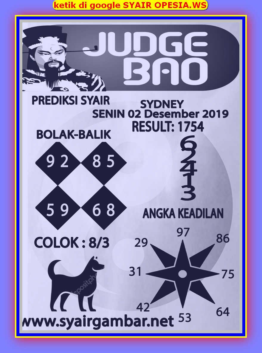 Kode syair Sydney Senin 2 Desember 2019 88