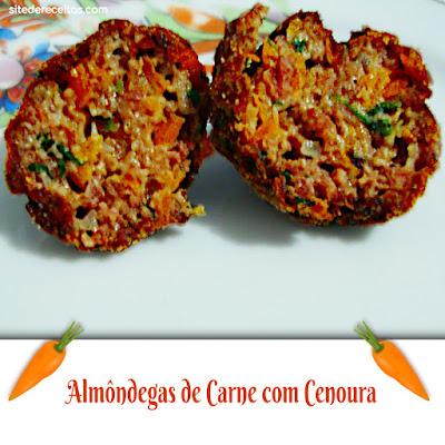 Almôndegas de carne com cenoura