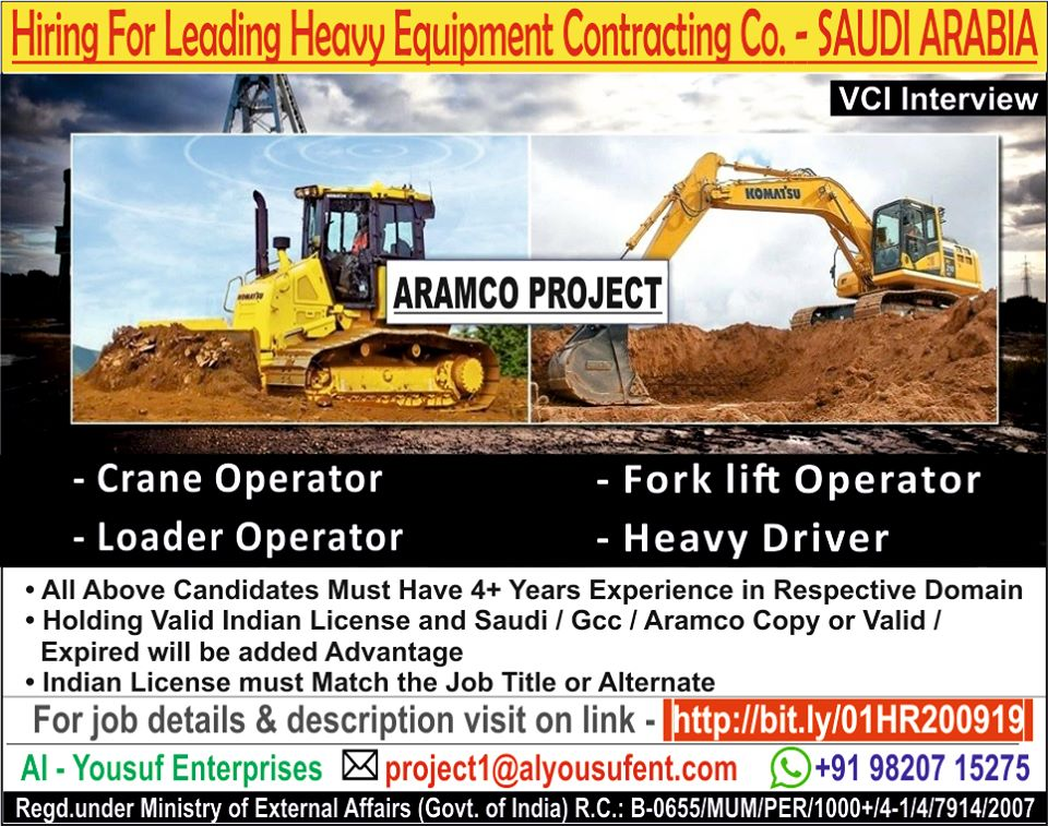 heavy Equipment Contracting Company in Saudi Arabia