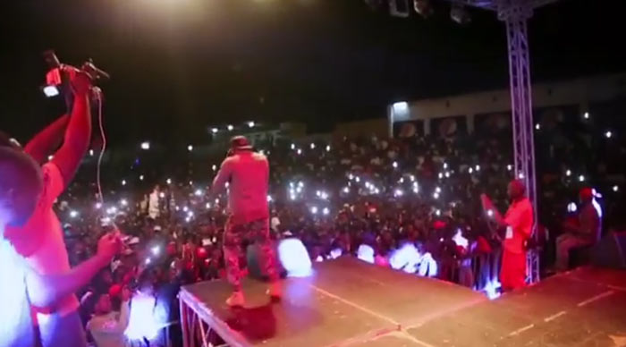 Video: Fan faints on stage as Kcee performs in Tanzania