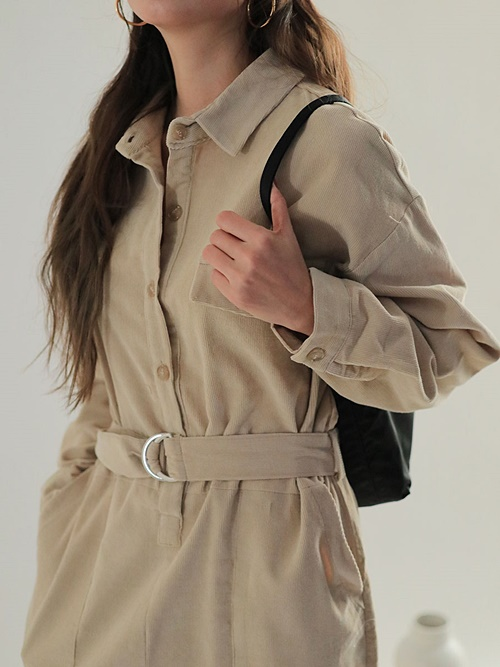 D-Ring Belt Utility Jumpsuit