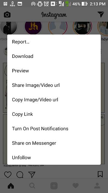 Cara menyimpan video di instagram tanpa aplikasi