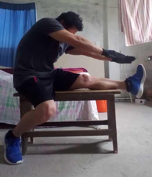 Estiramientos de tendones del muslo
