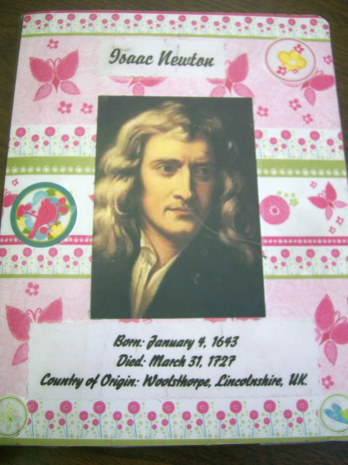 math love mathematician research project front of interactive notebook isaac newton research project