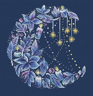 Cross-stitch «Лунное очарование» Надежда Григорьева (Mandarinks)