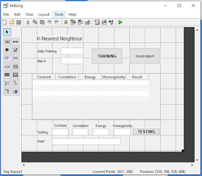 Contoh Program K-NN 4 Cluster dengan Pengambilan Data dari Excel Menggunakan MATLAB