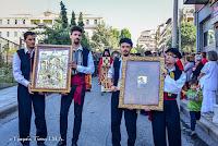 Πλήθος κόσμου στην λιτάνευση των εικόνων Παναγίας Σουμελά, Περιστερεώτα και Βαζελώνα