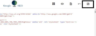 save code option in blogger