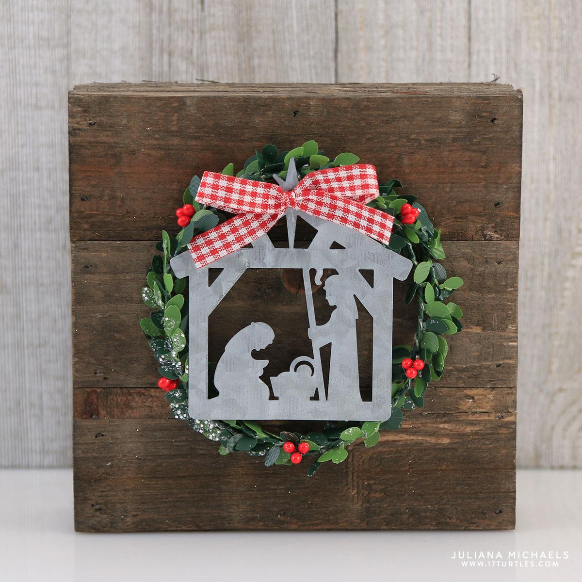 wood plank christmas nativity decoration. Black Bedroom Furniture Sets. Home Design Ideas