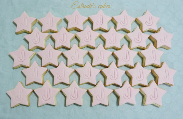 Galletas de estrellas con inicial 2
