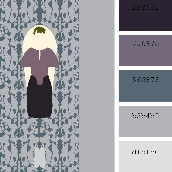 pantone color of the day, purple sage color palette