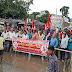 मोदी सरकार की नीतियों के खिलाफ भाकपा का विरोध प्रदर्शन एवं एनएच 107 जाम