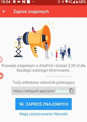 AttaPoll, program polecający.