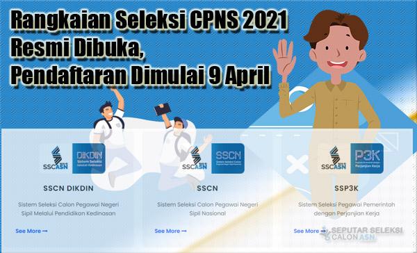 Rangkaian Seleksi CPNS 2021 Resmi Dibuka, Pendaftaran Dimulai 9 April