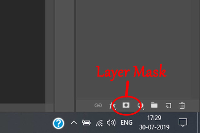 Layer mask button, tips and tricks in photoshop