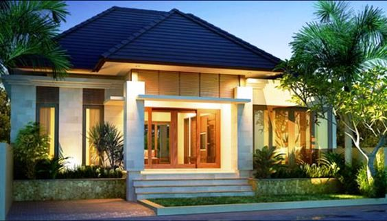 20 Inspirasi Fasad Rumah Minimalis 1 Lantai Dengan Atap Limasan