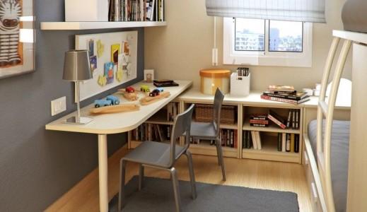 contoh meja belajar kayu