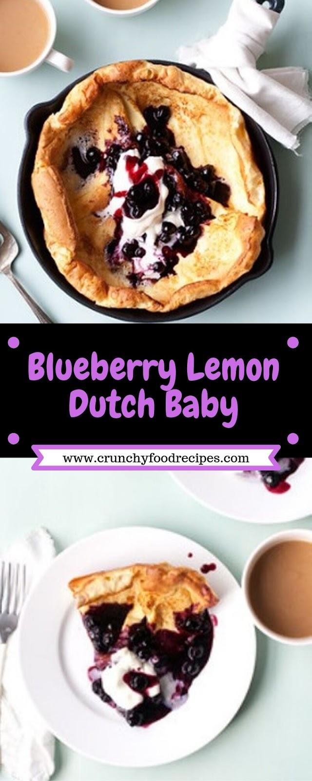 Blueberry Lemon Dutch Baby