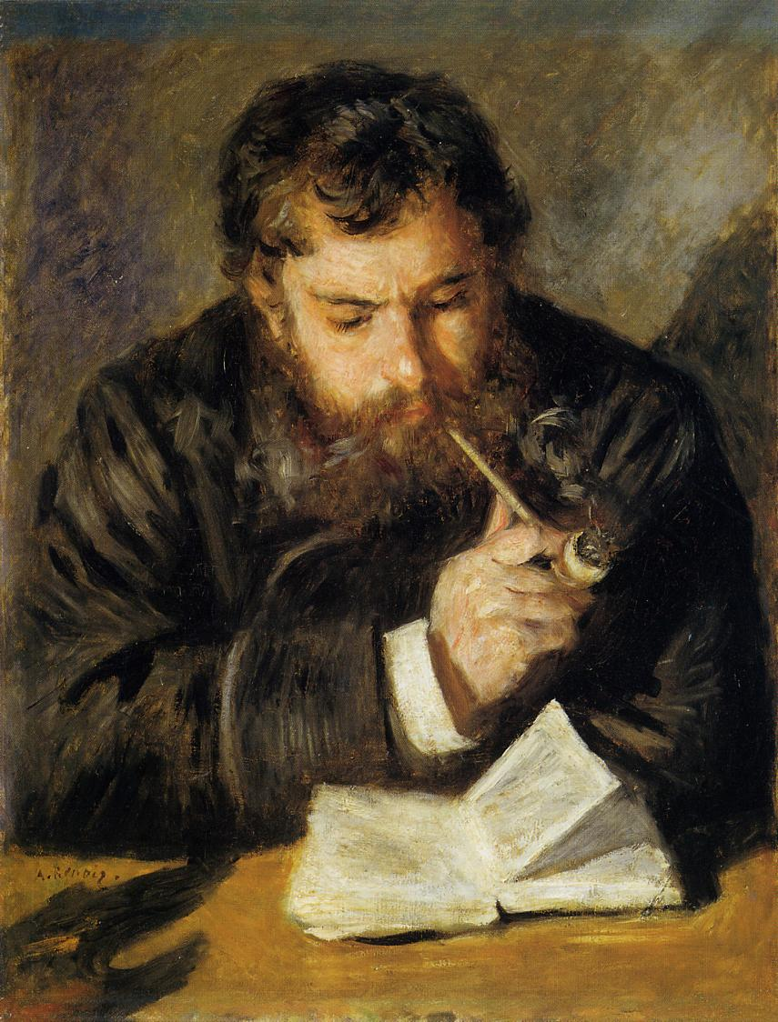 Claude Monet -The Reader by Pierre-Auguste Renoir, 1874