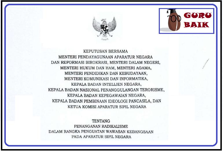 gambar SKB 11 menteri tentang Penanganan Radikalisme di kalangan ASN/PNS