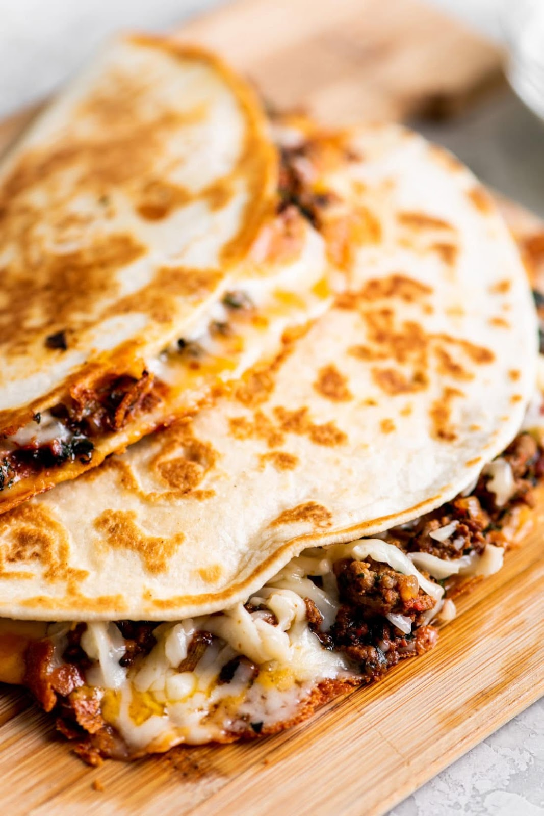 Best Cheesy Ground Beef Quesadillas