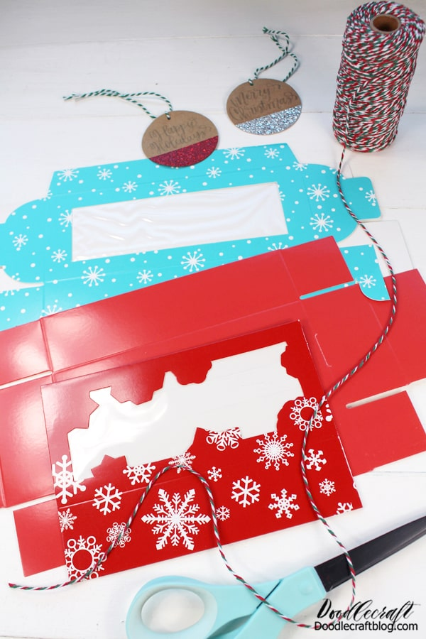 The gift tags are sparkly and glittery, but don't get glitter everywhere. The twine is red, green and white twisted, so it's perfect for all things Christmas.   Great for hanging ornaments, tying gifts and string buntings or garlands.  Growing up I remember neighbors giving us treat plate after goodie plate, after baked goods! Our countertop was piled high with delicious high calorie treats that we couldn't always get to because we were making our own goodies.   I think the best way to avoid this overload of sweetness is to spoil your neighbors and friends a little earlier!