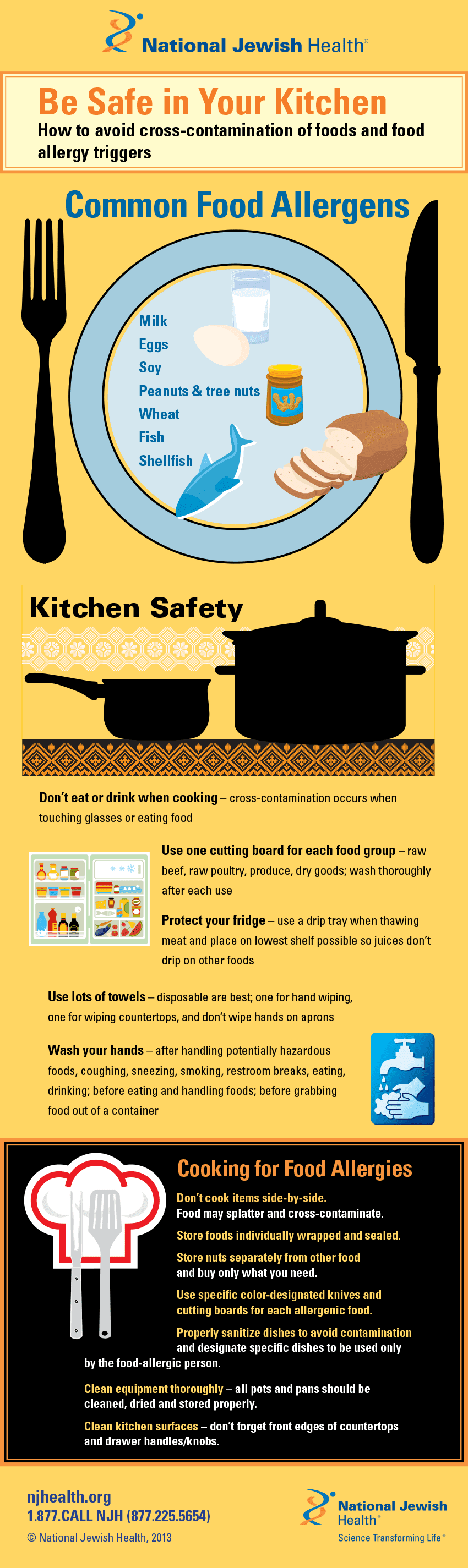 Be Safe in Your Kitchen: How to Avoid Cross-Contamination of Food and Food Allergy Triggers #infographic