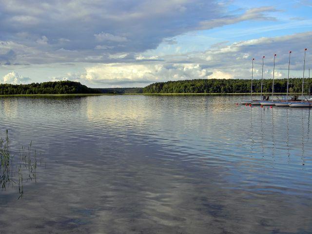 woda, jezioro, wyspy, Niesulice
