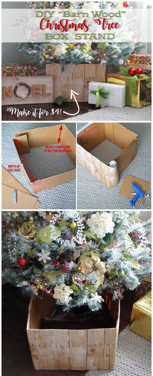 idéias para esconder pé de árvore de natal