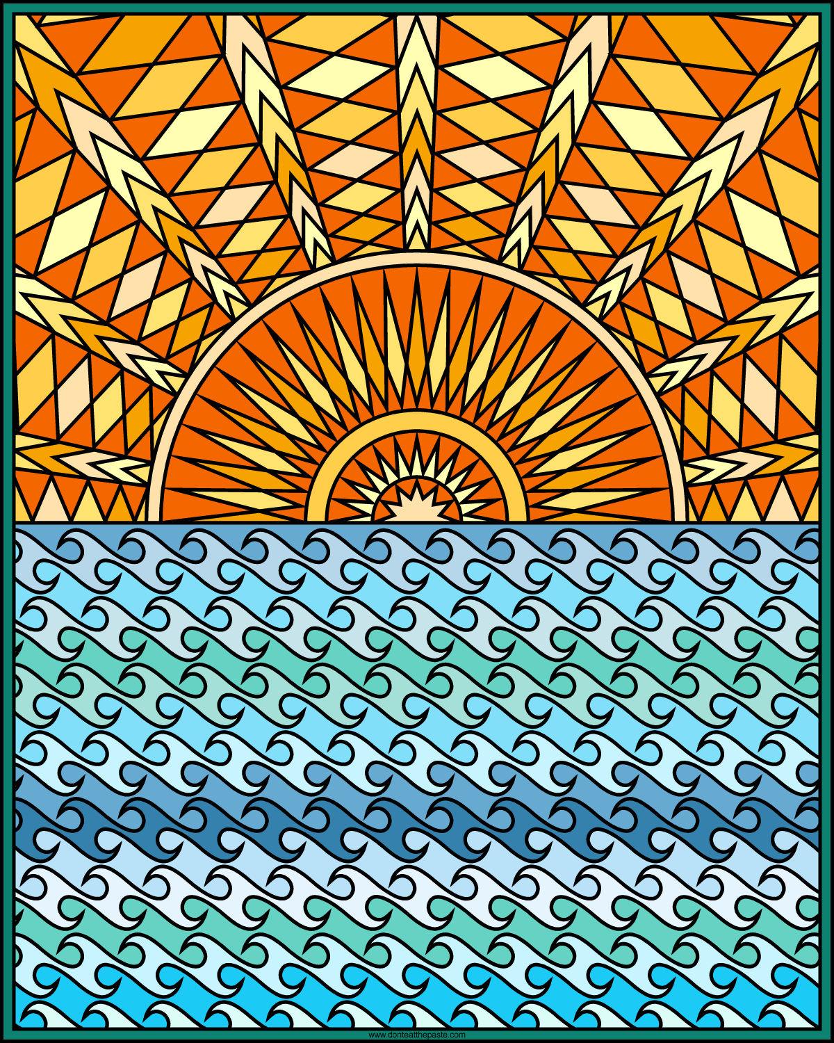 Don\'t Eat the Paste: Ocean coloring page