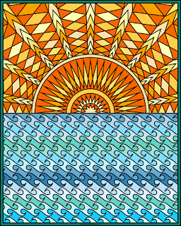 Ocean coloring page- blank available