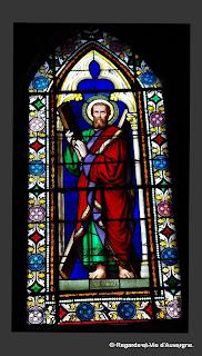 Vitrail de saint-André de Besse et Saint Anastaise