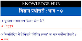 hindi questions of science