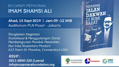 Imam Shamsi Ali Luncurkan Buku Biografi Dakwah di Bumi Barat